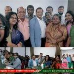 শিল্পকলা একাডেমী ইউএসএ'র প্রোগ্রামে অংশ নেয়া শিল্পিদের সাথে ঢাকায় সভাপতির কুশল বিনিময়